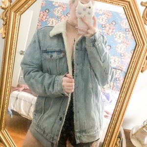 levi's denim and shearling jacket
